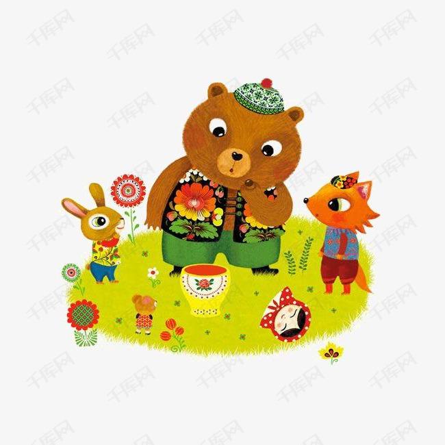 手绘动物绘本素材图片免费下载 高清卡通手绘png 千库网 图片编号4150309