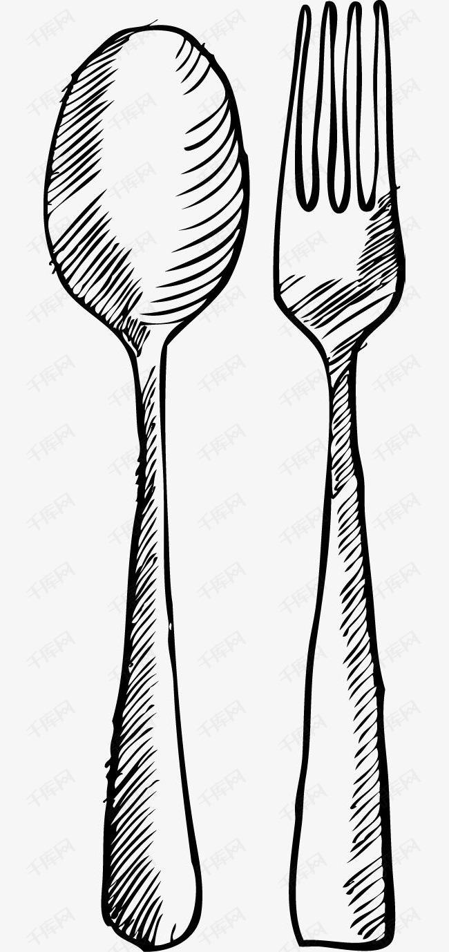 卡通手绘餐具素材图片免费下载 高清png 千库网 图片编号8710778