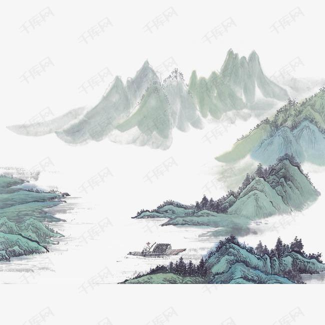 水墨山水古风中国风