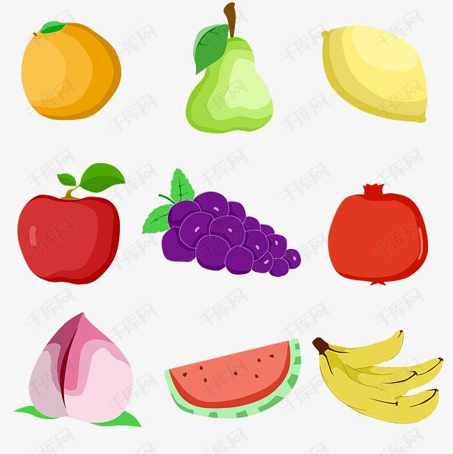 卡通水果图标小型合集素材图片免费下载 高清psd 千库网 图片编号9834270