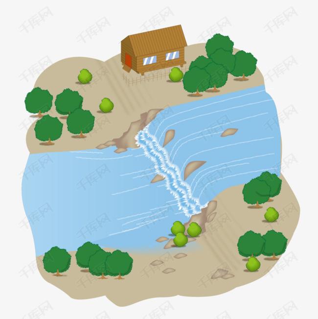 卡通版手绘的河流素材图片免费下载 高清png 千库网 图片编号10202868