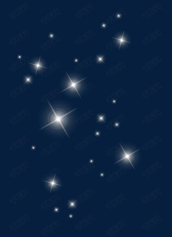 飘浮星星灰色星空