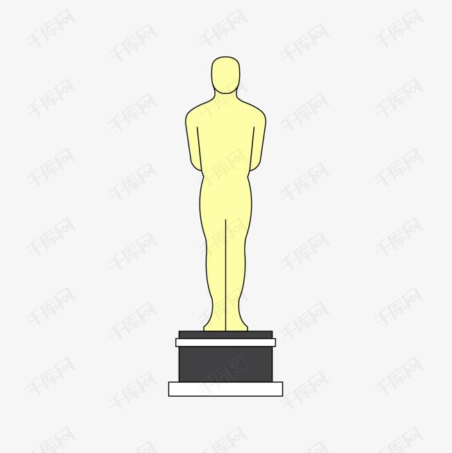 黄色手绘线稿奖杯元素素材图片免费下载 高清psd 千库网 图片编号10367160