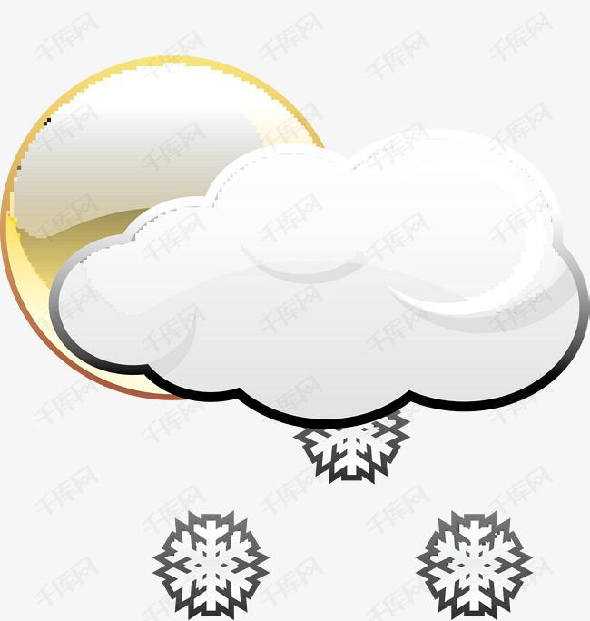 下雪的天气图标图片