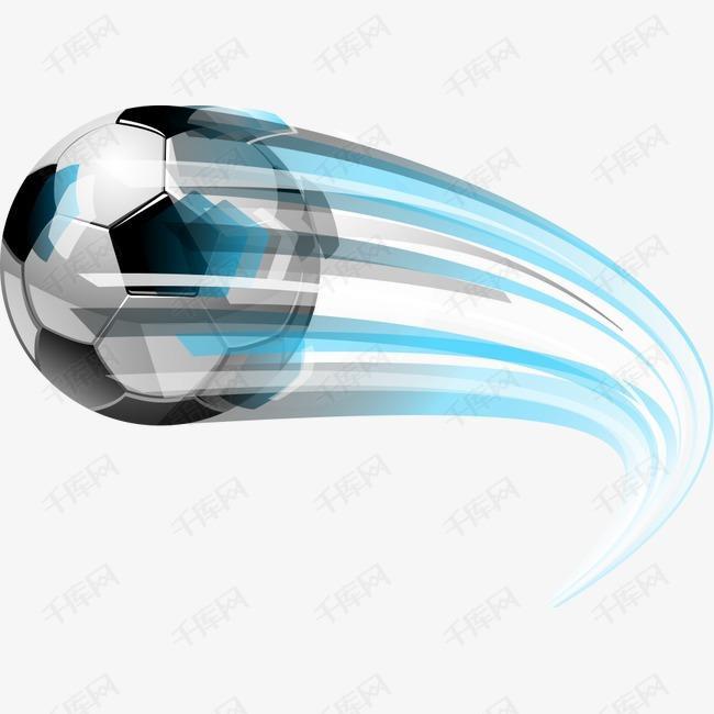 矢量飞行的足球