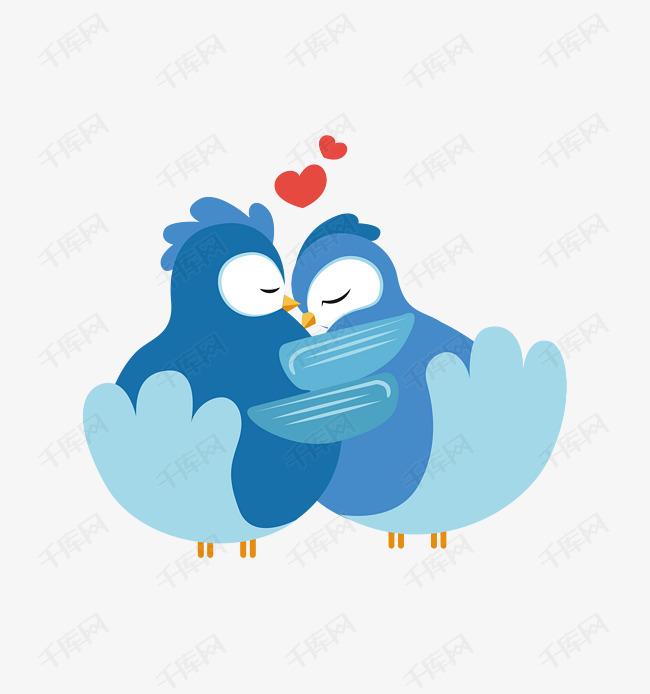 相爱的两只小鸟卡通图图片