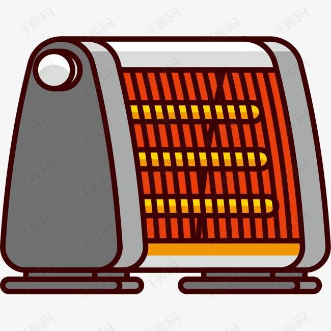 手绘卡通烤火炉的素材免抠烤火炉卡通烤火炉取暖炉冬天取暖寒冷家电小家电热风炉图片