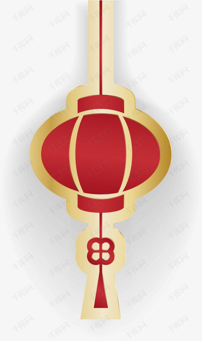 红色中国风春节灯笼