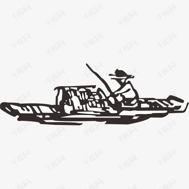 简笔画渔民