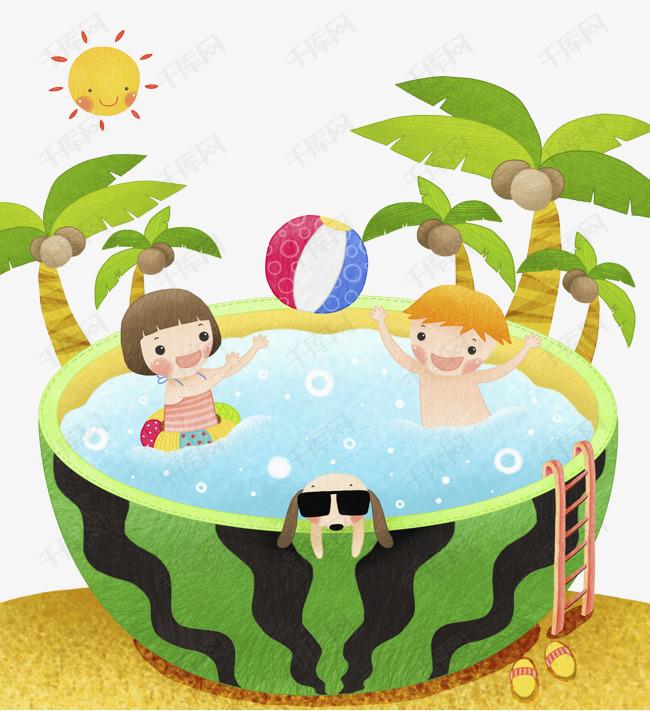 西瓜形的泳池