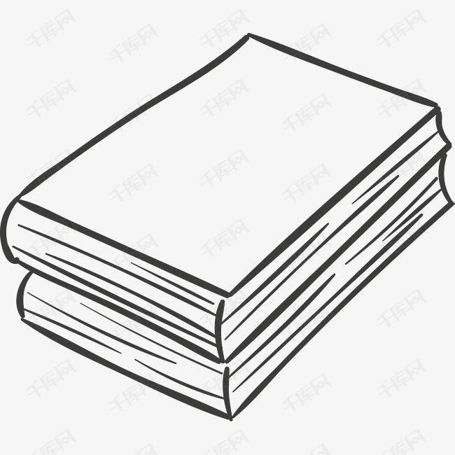 2本手绘书籍素材图片免费下载 高清psd 千库网 图片编号9038732