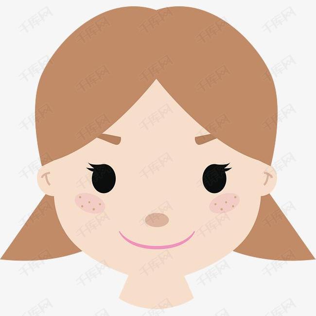 卡通矢量女孩头像图图片