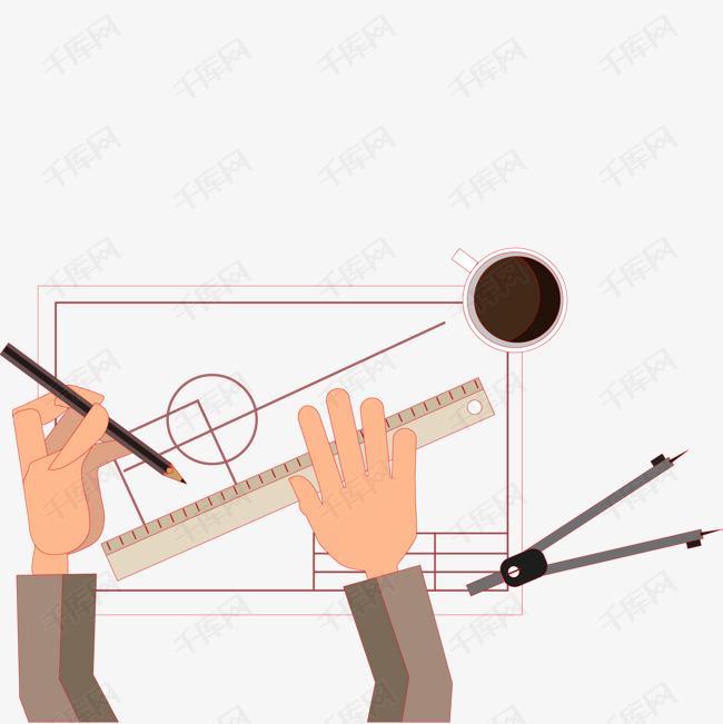 绘制图表的设计师矢量图写客平面设计图片
