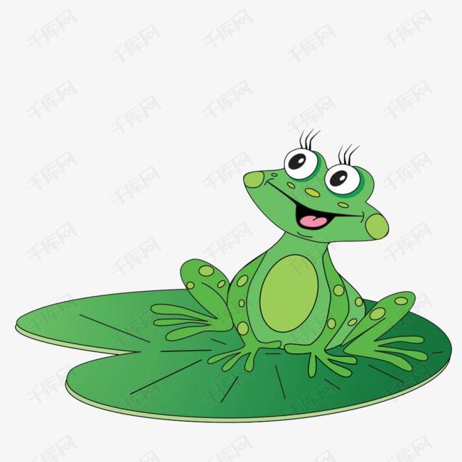 卡荷叶上斑点青蛙图片