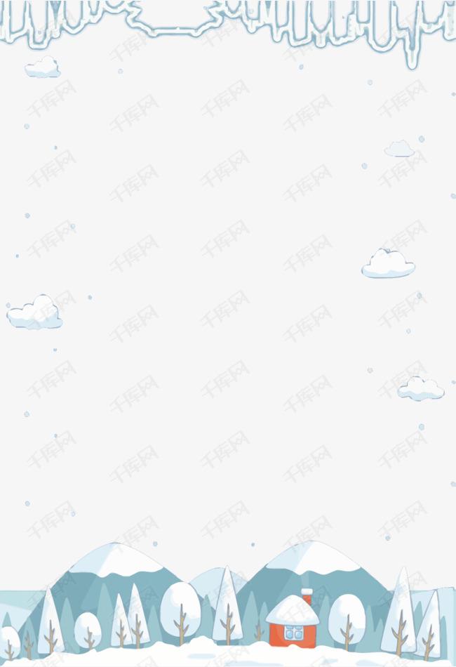 卡通冬季雪景素材图片免费下载 高清psd 千库网 图片编号9358998