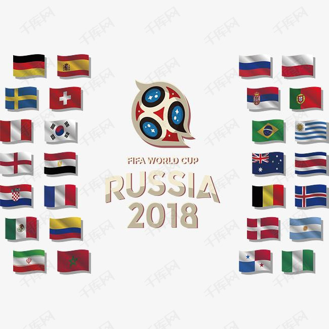 俄罗斯世界杯成员国旗