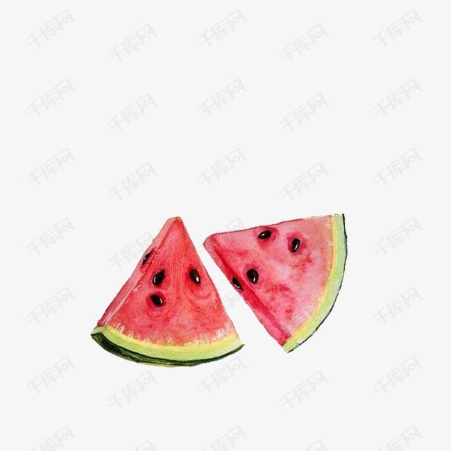 手绘水果西瓜