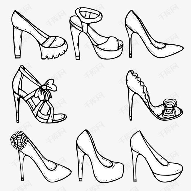 手绘高跟鞋素材图片免费下载 高清装饰图案png 千库网 图片编号3413016