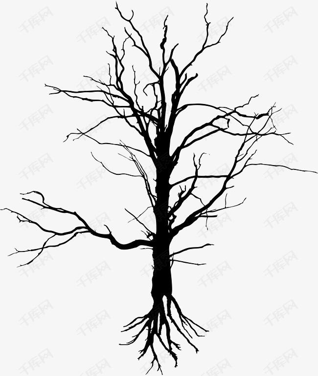 黑色枯树枝素材图片免费下载 高清png 千库网 图片编号9178485
