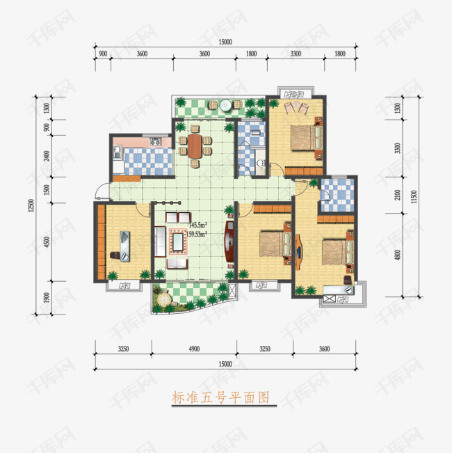 房屋室内设计平面图大全