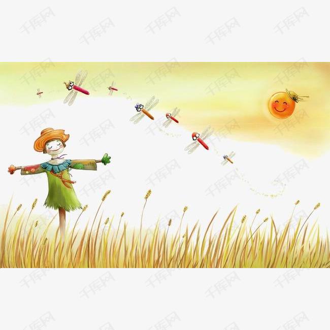 手绘稻草人素材图片免费下载 高清卡通手绘png 千库网 图片编号3612772