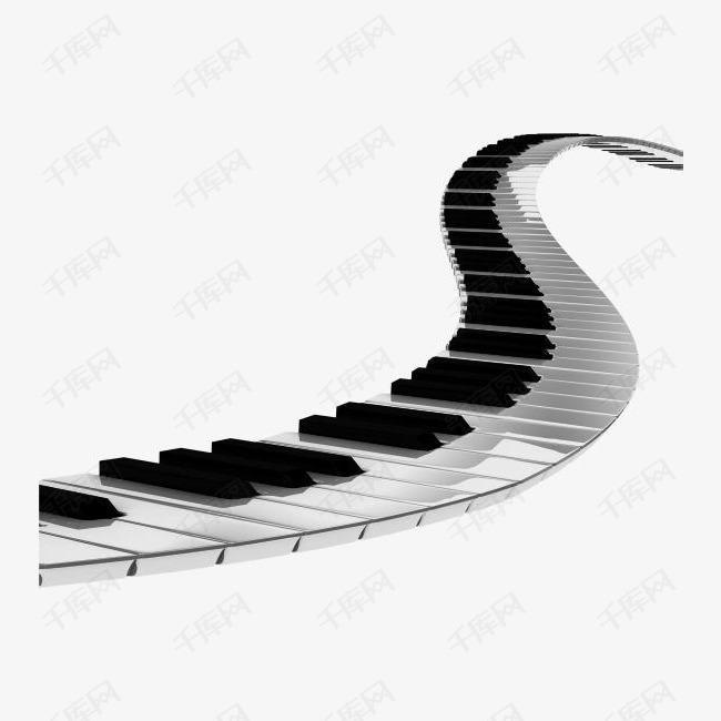 黑白键钢琴素材图片免费下载 高清卡通手绘png 千库网 图片编号4871935
