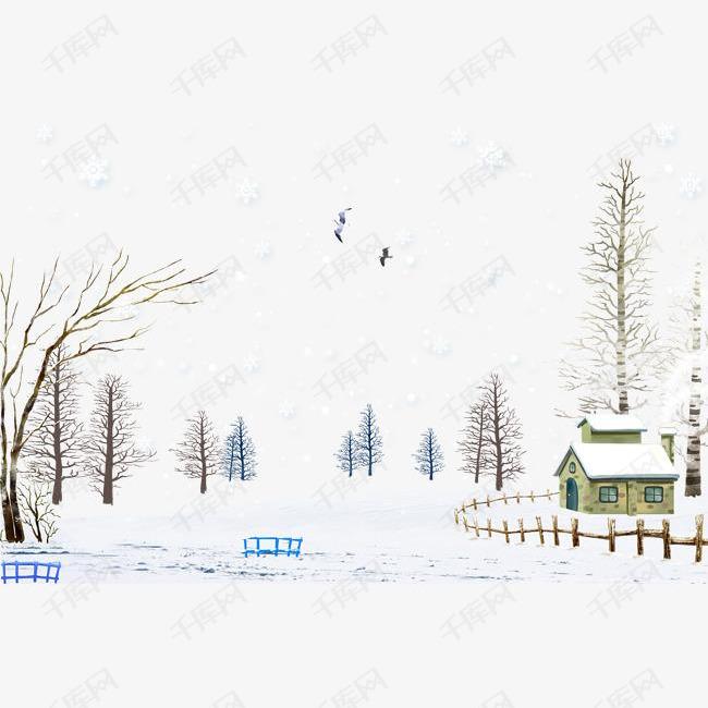 乡野下雪天素材图片免费下载 高清图片pngpsd 千库网 图片编号6648769