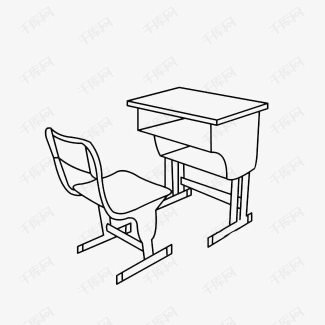 课桌简笔画素材图片免费下载 高清png 千库网 图片编号9110926