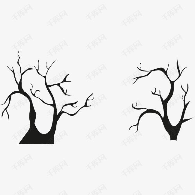黑色的枯树枝素材图片免费下载 高清psd 千库网 图片编号9004745