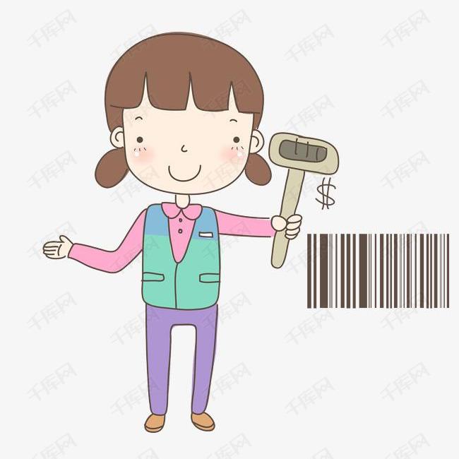 卡通超市收银员免抠图素材图片免费下载_高清png_千库图片