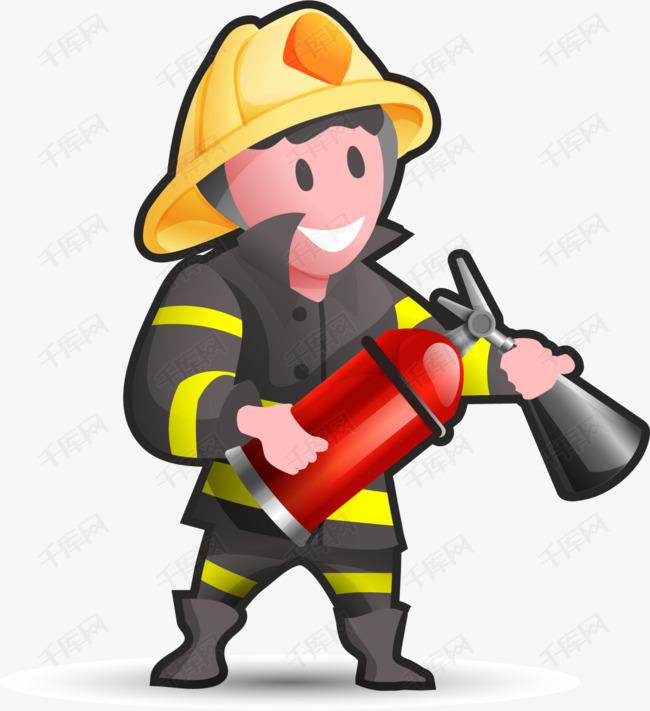 矢量手绘消防员素材图片免费下载 高清装饰图案psd 千库网 图片编号6845461