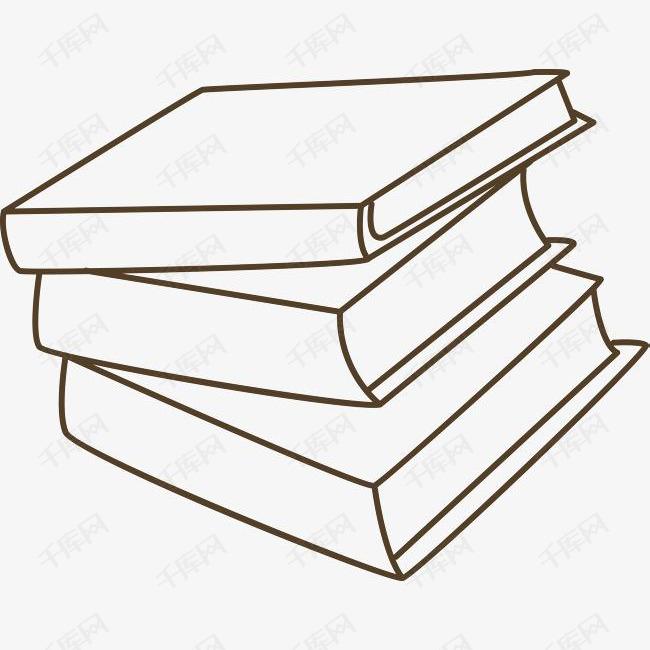 3本手绘重叠的书素材图片免费下载 高清psd 千库网 图片编号9039317