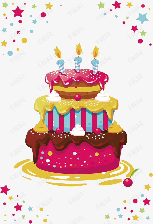 三层生日蛋糕素材图片免费下载 高清psd 千库网 图片编号8821794图片