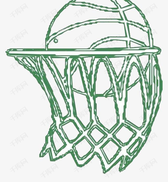 手绘篮球和篮球框素材图片免费下载 高清png 千库网 图片编号9018592