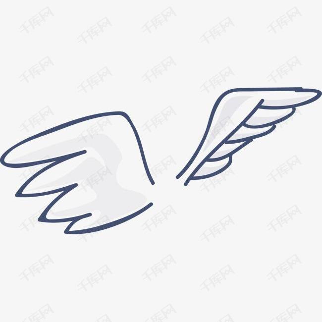 矢量手绘线条翅膀的素材免抠卡通翅膀展翅飞翔飞翔的翅膀矢量翅膀翅膀素材翅膀简笔画翱翔高空飞翔鸟类张开翅膀