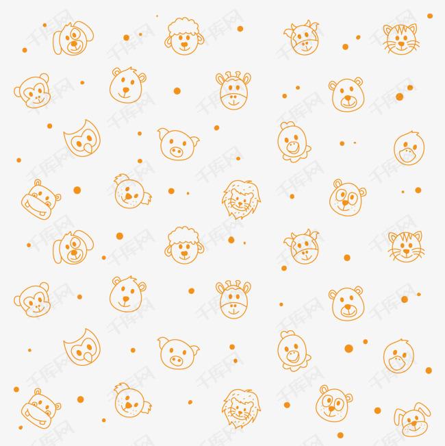 手绘小熊背景装饰素材图片免费下载 高清psd 千库网 图片编号9087505