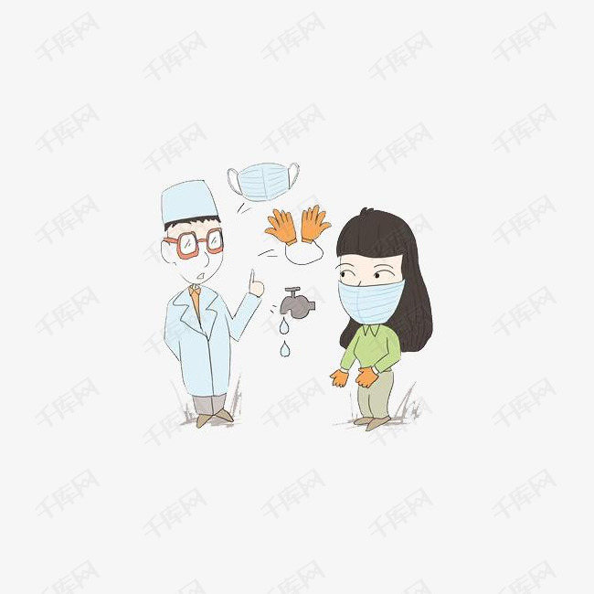 医生和戴口罩的女士图片