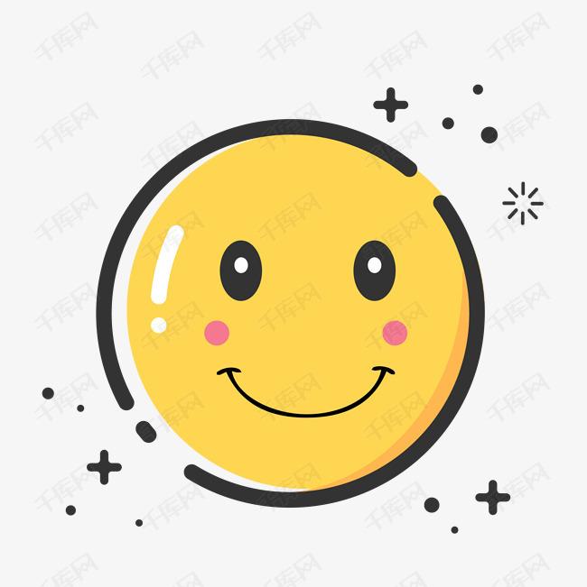 手绘矢量MBE风格笑脸微笑之星素材图片免费下载 高清psd 千库网 图片编号10391052