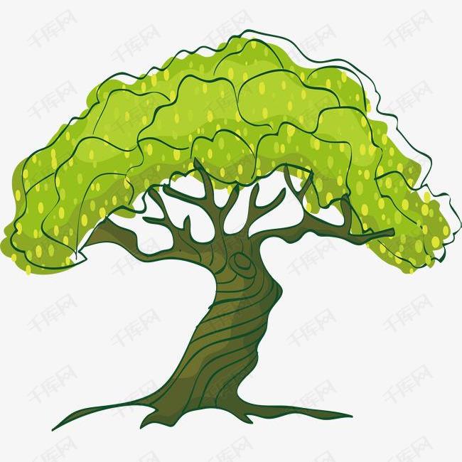 绿树矢量图素材图片免费下载 高清psd 千库网 图片编号8687153
