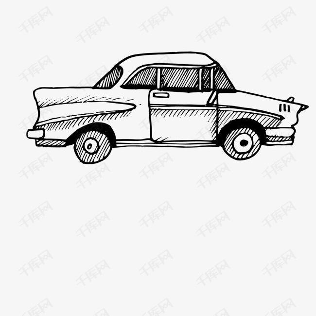 卡通简约手绘交通工具装饰汽车素材图片免费下载 高清png 千库网 图片编号10071944