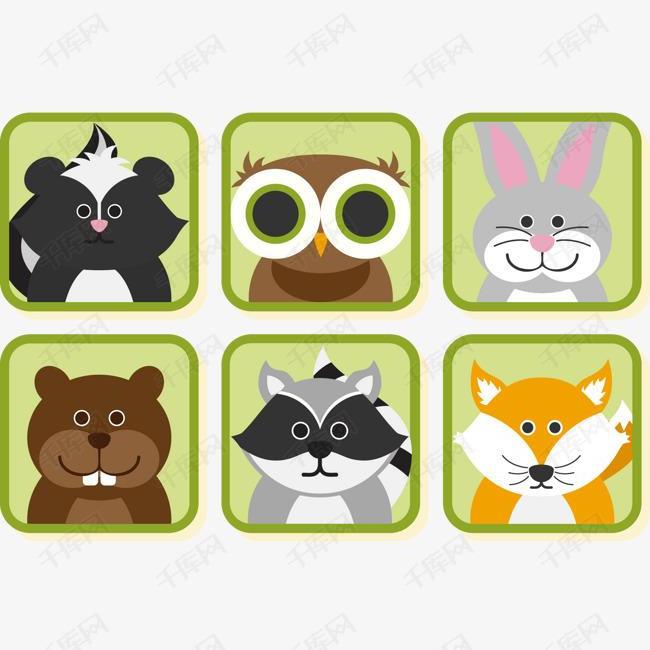 矢量手绘卡通动物素材图片免费下载 高清卡通手绘psd 千库网 图片编号6837421