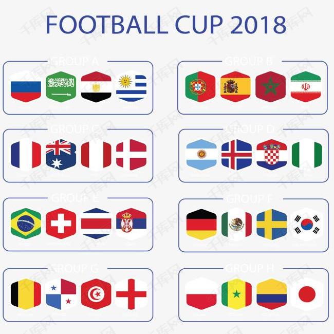 多边形国旗俄罗斯世界杯