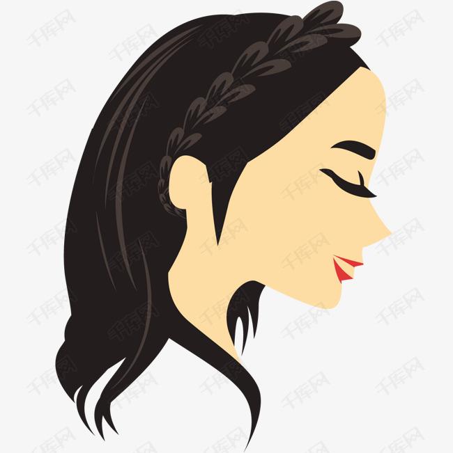 女生侧辫卡通辫视频矢量麻花素材图片免费下载蹦迪头像女孩a女生图片