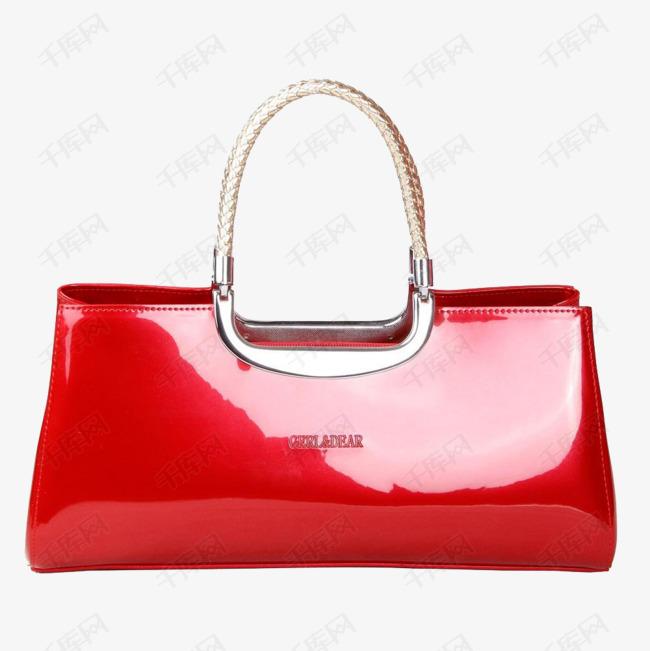 女士红色亮皮包包设计