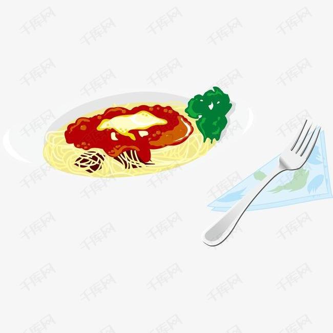 卡通美食餐饮