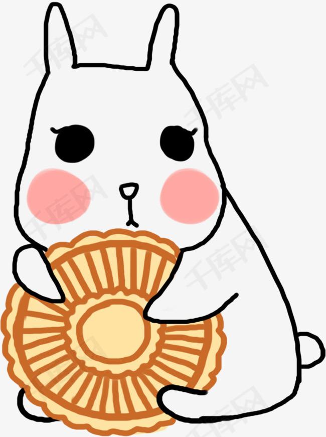 卡通月兔月饼装饰图案素材图片免费下载 高清png 千库网 图片编号10977563