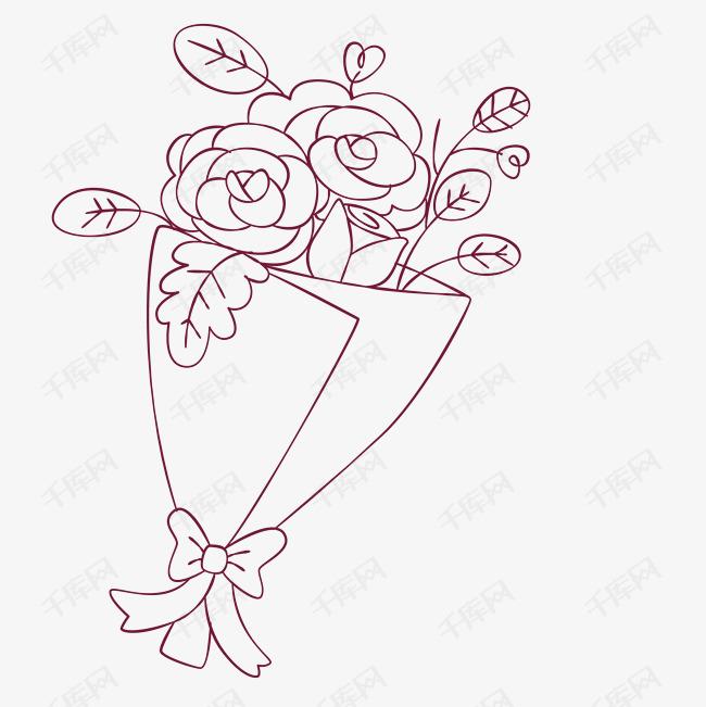 花束图片大全简笔画_38种花画成的简笔画图片