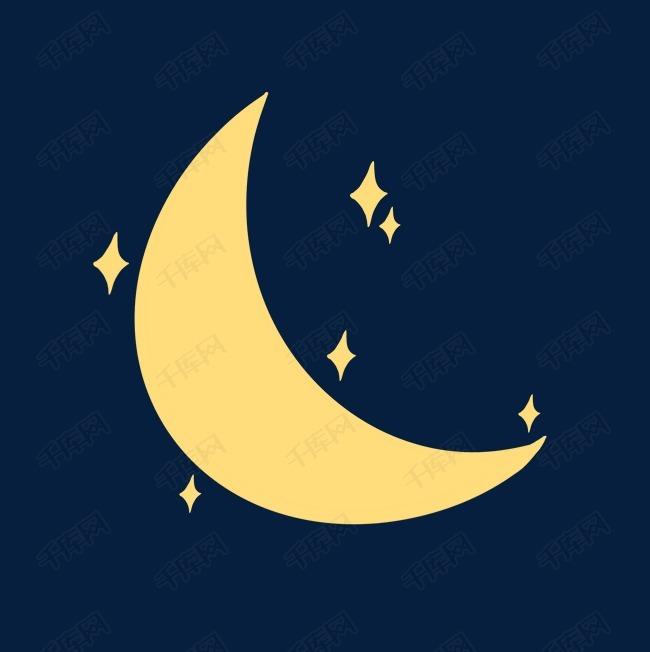 卡通月亮可爱星星图片