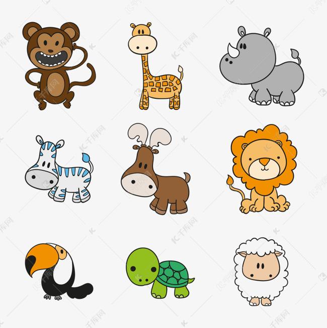 矢量动物卡通素材图片免费下载 高清装饰图案psd 千库网 图片编号7522351