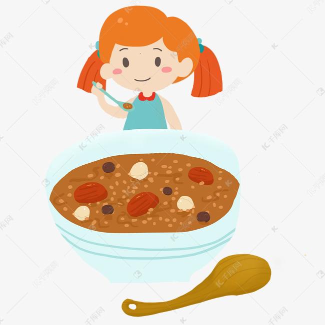 吃红枣头像枸杞女孩v红枣粥的桂圆免抠PNG素女生漫画复古莲子图片
